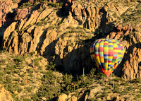 Hot Air Balloon in front of Tucson Mountain Range